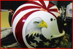 Red White and Blue Eagle Helmet