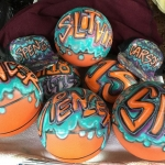 Airbrushed Basketballs